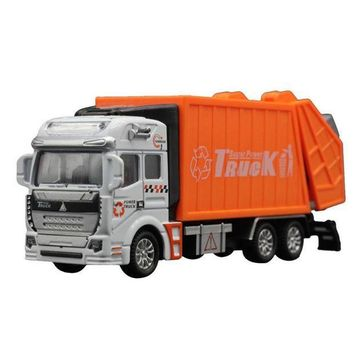 ESBON5 Children Model toys 1:32 Racing Bicycle Shop Truck Toy Car Carrier Vehicle Garbage Truck Educational toys