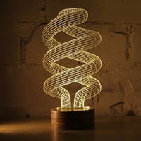 Novelty Spiral Night Lights 3D Illusion Led Table Lamp Desk Magical Mood Light Bedroom Decoration