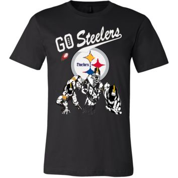 """""""Go Steelers"""" Pittsburgh Steelers T-Shirt (15 Colors)"""