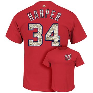 Majestic Washington Nationals Bryce Harper Usmc Tee