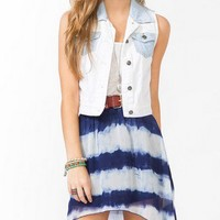 Colorblocked Denim Vest