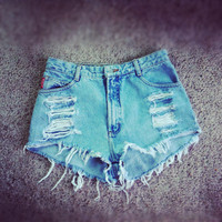 Vintage high waisted denim shorts