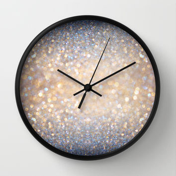 Glimmer of Light (Ombré Glitter Abstract) Wall Clock by soaring anchor designs ⚓ | Society6