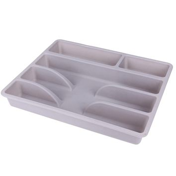 Japanese Style Plastic Inserts Trays Kitchen Drawers Fork Storage Tray Outdoor Portable Storage Box Cutlery