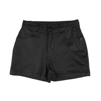 Metallic Black Shorts by Stylenanda
