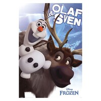 Disney's Frozen Olaf and Sven Poster Wall Art by Art.com (Blue)