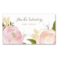 Romantic Watercolor Flowers Business Card Pack Of Standard Business Cards