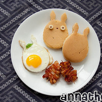 Non-bento #35: Totoro breakfast | Anna The Red's Bento  Plush Factory