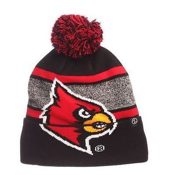 Licensed Louisville Cardinals NCAA Mammoth Adjustable Beanie Knit Sock Hat Zephyr KO_19_1