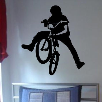 BMX Biker Version 3 Design Sports Decal Sticker Wall Vinyl