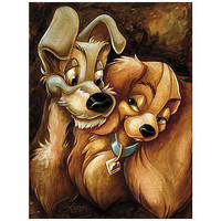 Disney Lady and the Tramp Giclée by Darren Wilson | Disney Store