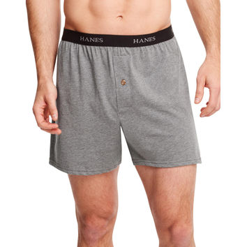 Hanes Classics Mens TAGLESS ComfortSoft Knit Boxers with Comfort Flex Waistband 5-Pack