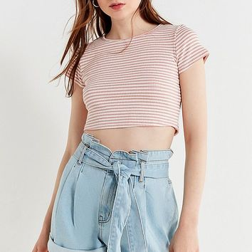 BDG Paperbag Tie Mom Short | Urban Outfitters