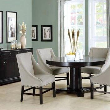 "Taupe Velvet 38""H Side Chair (Set Of 2)"