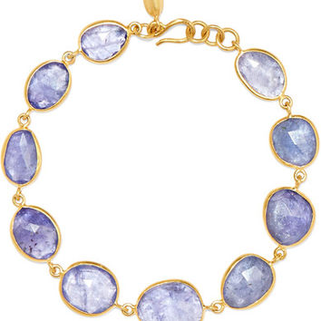 Pippa Small - 18-karat gold tanzanite bracelet