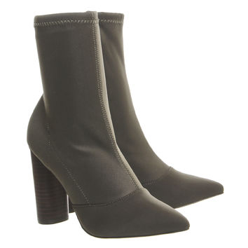 Office London High Cut Ankle Boots Khaki - Ankle Boots