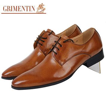 Smart Fashion Men Dress Shoes Casual Genuine Leather Shoes For Men Office