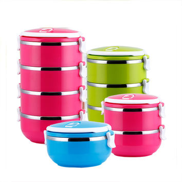 Fashion Portable Stainless Steel Thermos Bento Lunch Box Children's Tableware Thermal Food Container Food Box Lunchbox