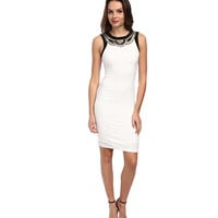 XOXO Necklace Trim Sheath Dress