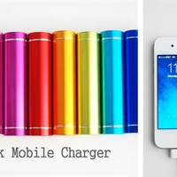 Portable Lipstick Style External Phone Charger