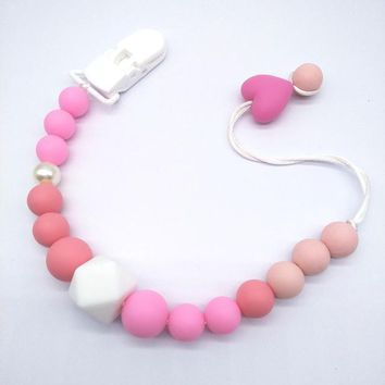 Baby Silicone Teether  Chewable Beads