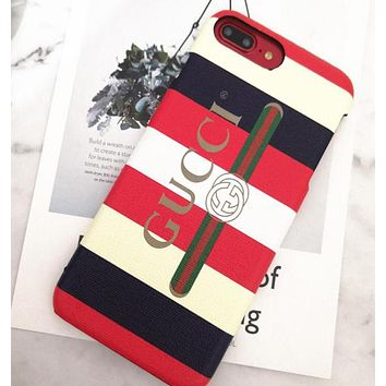 Gucci Trending iPhone x iPhone 8 plus - Stylish Cute Stripe Lovers Phone Case For iphone 6 6s 6plus 6s plus I12003-1