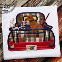 Hunting Vintage Truck Custom Tee Shirt - Customizable -  Infant to Youth