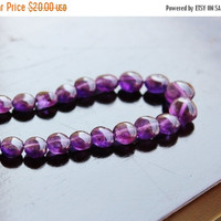47% Off Amethyst Gemstone Smooth Coin Purple 9 to 9.5mm 14 beads