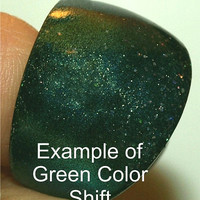 MODERN Mood Ring, Color Changing Resin Ring - Blue to Green to Gold - Resin Jewelry, Must Check Out. ResinHeavenUSA