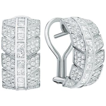 Lalique Éros Diamond White Gold Earrings