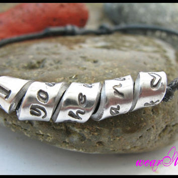 "Personalized Bracelet ""I love you to the moon and back- (or choose your words)"".Custom Hand Stamped Bracelet.. Aluminum bracelet."