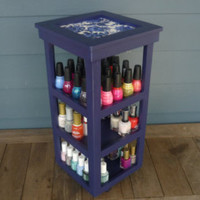 Handcrafted Nail Polish Organizers from by NLpalletcreatives