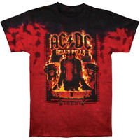 AC/DC Men's  Burning Bells Tie Dye T-shirt Multi Rockabilia