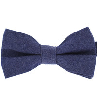 Tok Tok Designs Pre-Tied Bow Tie for Men & Teenagers (B333, 100% Cotton, Denim)