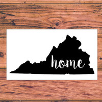 Virginia Home Decal | Virginia Decal | Homestate Decals | Love Sticker | Love Decal  | Country Decal | Car Decal | Car Stickers | 138