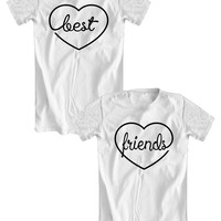 BEST FRIENDS t-shirts for BFFs