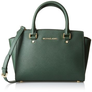MICHAEL Michael Kors Womens Selma Medium Tz Satchel