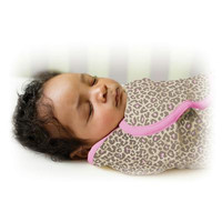 Summer Infant SwaddleMe Adjustable Infant Wrap - Small/Medium 7 - 14 lbs - Leopard