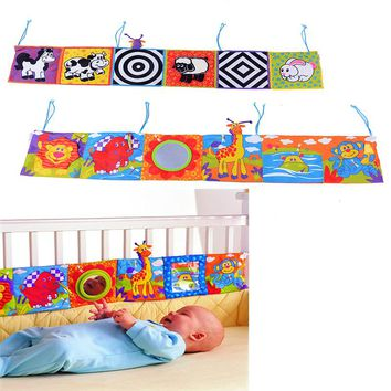 Baby Toys Baby Soft Cloth Book Knowledge Around Multi-touch Multifunction Fun And Double Color Bed Bumper For Newborn Bebek Gift