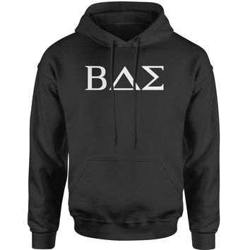 BAE Greek Lettering Fraternity Sorority  Adult Hoodie Sweatshirt
