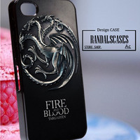 Rc21Z6_Game of Thrones House Targaryen - Accessories iPhone - design print for iPhone 5/5S - Black Case - Material Hard Plastic (PC)