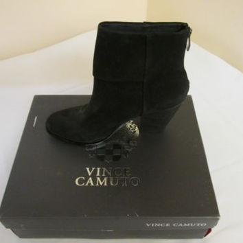 Vince Camuto Hadley Womens Nubuck Leather Fashion Ankle Boots 10 M