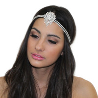 GREAT GATSBY INSPIRED CRYSTAL PENDANT TIARA HEADPIECE HEADBAND