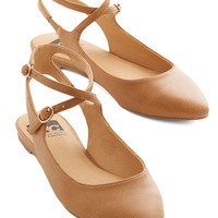 BC Footwear Happy Henceforth Flat in Caramel