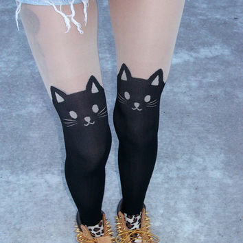 Kitty Garter Tights