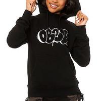The Obey x Cope 2 Throw Up Outline Hoody in Black