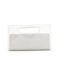 Top Handle Clutch in White