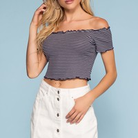 Caroline Denim Skirt - White