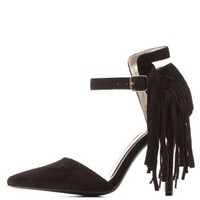 Fringe Pointed Toe Pumps by Qupid at Charlotte Russe