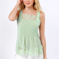 Bygone Days Mint Green Top